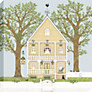 Sally Swannell - Summer House Framed Print, 50 x 50cm