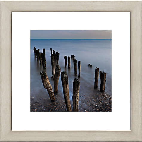 Buy David Purdie - Blue Groynes Detail Framed Print, 47 x 47cm Online at johnlewis.com