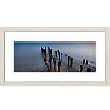 Buy David Purdie - Blue Groynes Framed Print, 47 x 87cm Online at johnlewis.com