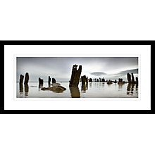 Buy David Purdle - Line Of Groynes Framed Print, 49 x 104cm Online at johnlewis.com