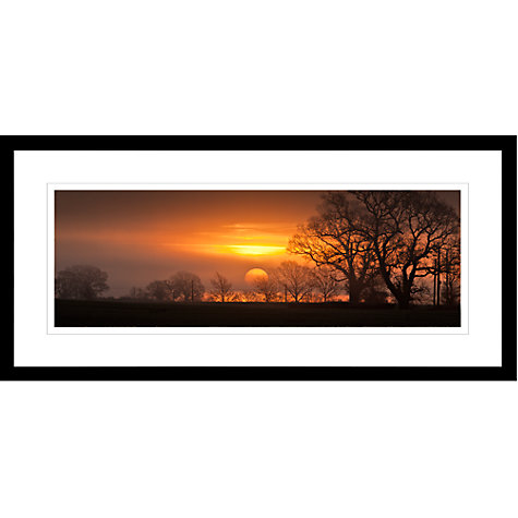 Buy David Purdie - Red Sunrise Framed Print, 49 x 104cm Online at johnlewis.com