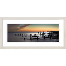 Buy David Purdie - Sunset Groynes Framed Print, 52 x 107cm Online at johnlewis.com