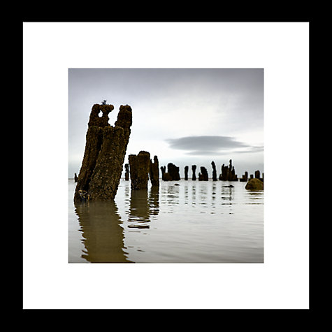 Buy David Purdie - Line of Groynes Detail Framed Print, 44 x 44cm Online at johnlewis.com
