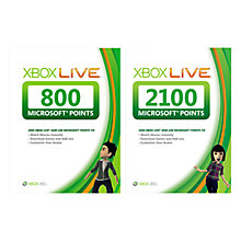 Buy Xbox 360 2100 Live Points with 800 Live Points Online at johnlewis.com