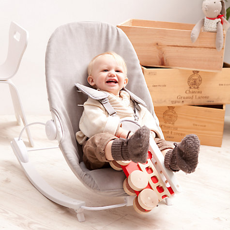 Buy Bloom Coco Go Rocker, White/Grey Online at johnlewis.com