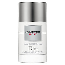 Buy Dior Homme Sport Alcohol-Free Stick Deodorant, 75g Online at johnlewis.com
