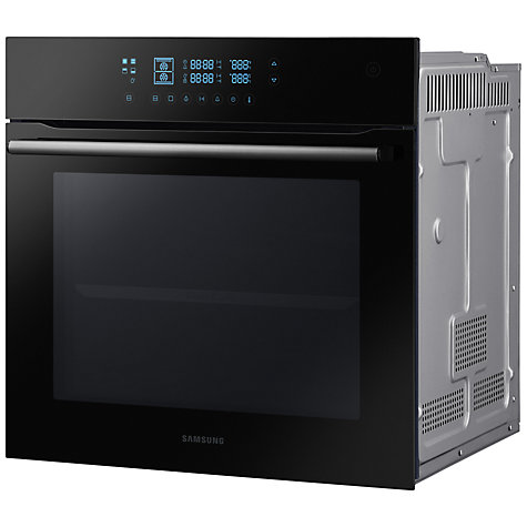buy samsung bq2q7g078 dual cook electric single oven black glass john lewis. Black Bedroom Furniture Sets. Home Design Ideas