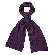 Buy John Lewis Mini Cable Knit Scarf Online at johnlewis.com