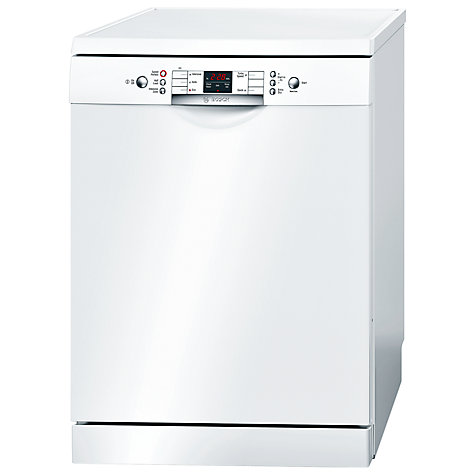 Buy Bosch SMS53A12GB Dishwasher, White Online at johnlewis.com