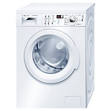 Buy Bosch Exxcel WAQ283S0GB Washing Machine, 8kg Load, A+++ Energy Rating, 1400rpm Spin, White Online at johnlewis.com