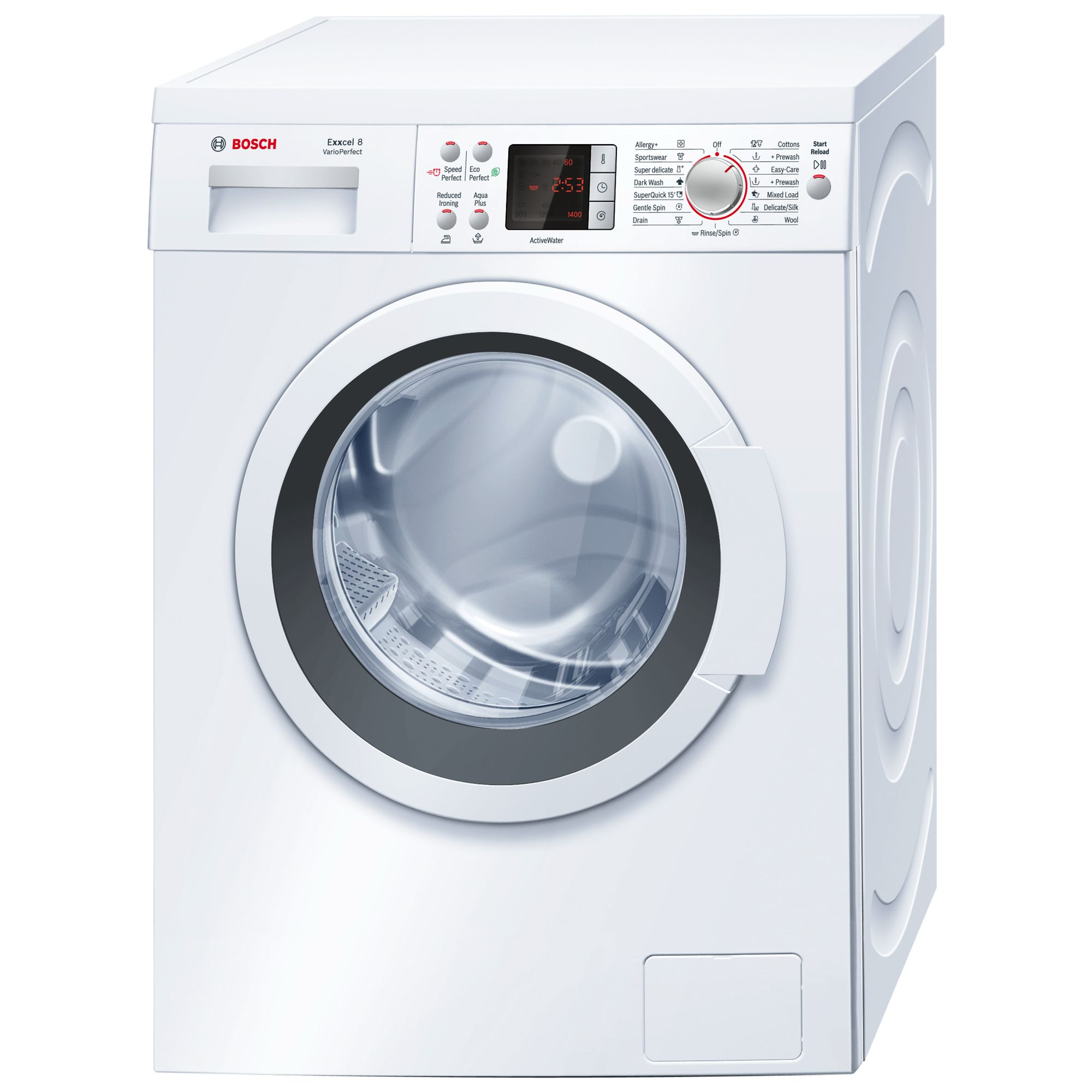 LG F1281TD Washing Machine, White
