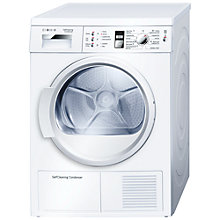 Buy Bosch WTW863S0 Sensor Condenser Tumble Dryer, 7kg Load, A Energy Rating, White Online at johnlewis.com