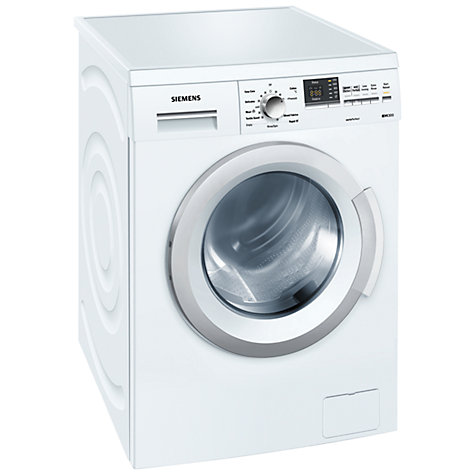 Buy Siemens WM12Q390GB Washing Machine, 8kg Load, A+++ Energy Rating, 1200rpm Spin, White Online at johnlewis.com