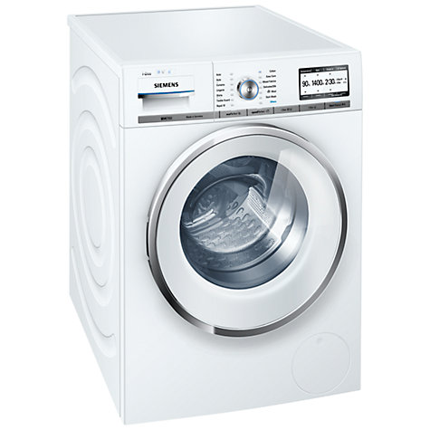 Buy Siemens WM14Y890GB iDos Washing Machine, 8kg load, A+++ Energy Rating, 1400rpm Spin, White Online at johnlewis.com