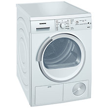 Buy Siemens WT46E380GB Condenser Tumble Dryer, 8kg Load, B Energy Rating, White Online at johnlewis.com