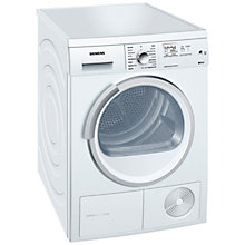 Buy Siemens WT46W568GB Condenser Tumble Dryer, 7kg Load, A Energy Rating, White Online at johnlewis.com