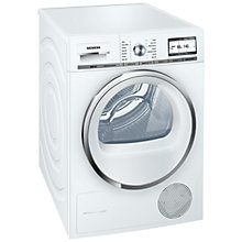 Buy Siemens WT48Y800GB Condenser Tumble Dryer, 8kg Load, A++ Energy Rating, White Online at johnlewis.com