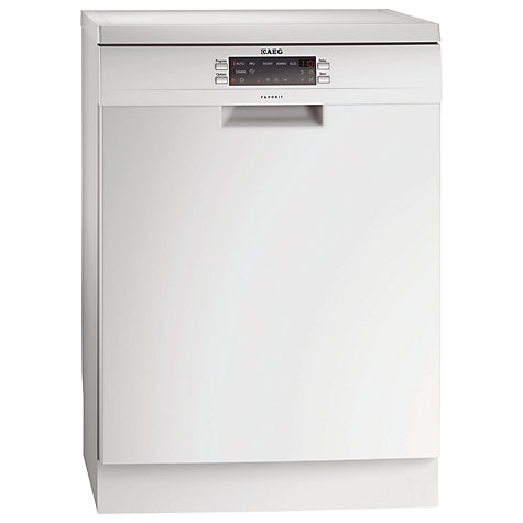 Buy AEG F77012W0P Dishwasher, White Online at johnlewis.com