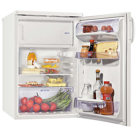 Buy Zanussi ZRG714SW Fridge with Freezer Compartment, A+ Energy Rating, 55cm Wide, White Online at johnlewis.com