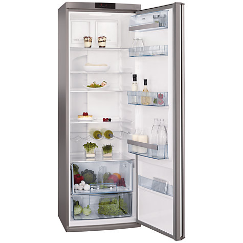 Buy AEG S54000KMX0 Tall Larder Fridge, A+ Energy Rating, 60cm Wide, Stainless Steel Online at johnlewis.com