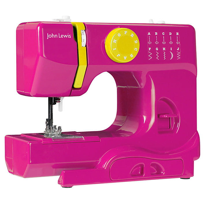 Buy John Lewis Mini Colour Block Sewing Machine, Pink Online at johnlewis.com