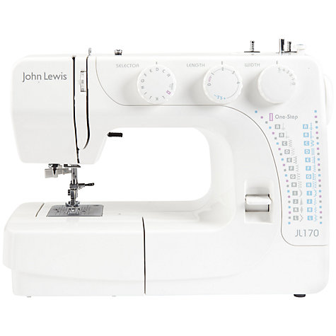 Buy John Lewis JL170 Sewing Machine, White Online at johnlewis.com