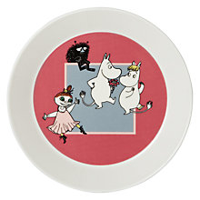 Buy Finland Arabia Moomin Plate, Dance, Dia.19cm Online at johnlewis.com
