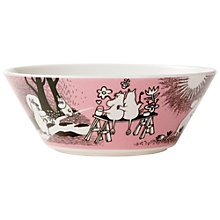Buy Finland Arabia Moomin Bowl, Pink Love Online at johnlewis.com