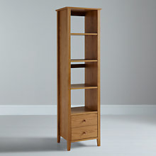 Buy John Lewis Ellis Narrow Bookshelf with 2 Drawers, Light Oak Online at johnlewis.com
