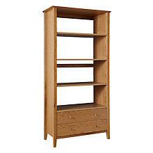 Buy John Lewis Ellis Wide Bookshelf with 2 Drawers, Light Oak Online at johnlewis.com