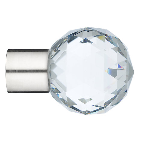Buy John Lewis Stainless Steel Cut Crystal Finial, Dia.19mm Online at johnlewis.com