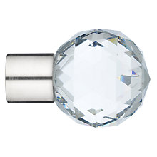Buy John Lewis Stainless Steel Cut Glass Finial, Dia.25mm Online at johnlewis.com