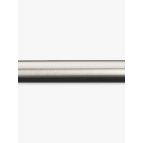 Buy John Lewis Stainless Steel Curtain Pole, L150cm x Dia.19mm Online at johnlewis.com