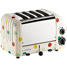 Buy Dualit Emma Bridgewater NewGen Toaster, 4-Slice, Polka Dots Online at johnlewis.com