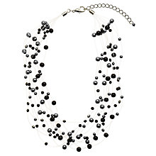 Buy John Lewis Multi-Strand Short Illusion Necklace, Black/Grey Online at johnlewis.com