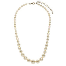 Buy John Lewis Faux Graduating Pearl Necklace, White Online at johnlewis.com