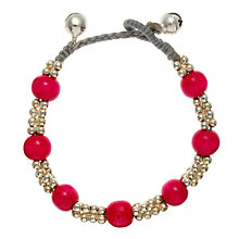 Buy One Button Cord Bead and Bell Bracelet Online at johnlewis.com