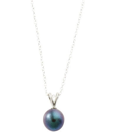 Buy A B Davis Sterling Silver Black and White Freshwater Pearl Pendant and Stud Earrings Set Online at johnlewis.com