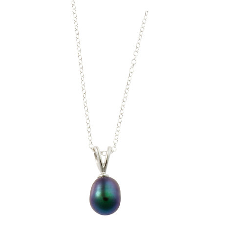 Buy A B Davis Sterling Silver 3 Multi-Coloured Pearl Pendant Necklace and Stud Earrings Set Online at johnlewis.com