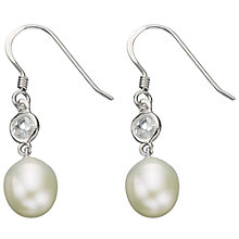 Buy Freshwater Pearl with Cubic Zirconia Drop Earrings Online at johnlewis.com