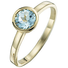 Buy 9ct Yellow Gold Gemstone Rubover Ring Online at johnlewis.com