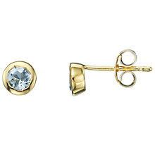 Buy A B Davis 9ct Yellow Gold Gemstone Rubover Gemstone Stud Earrings Online at johnlewis.com