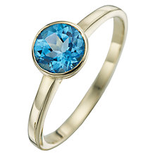 Buy A B Davis 9ct Yellow Gold Round Gemstone Rubover Ring Online at johnlewis.com