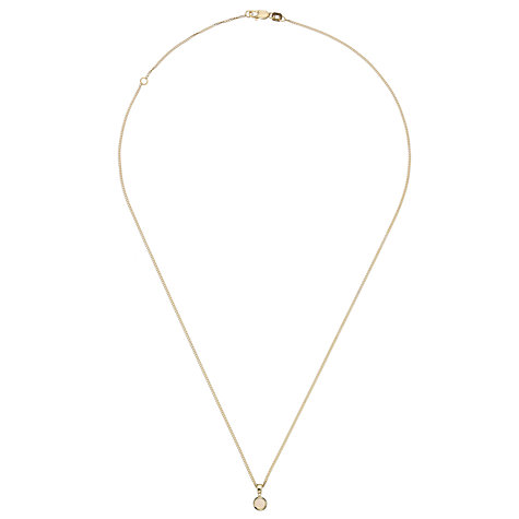 Buy A B Davis 9ct Yellow Gold Round Gemstone Rubover Pendant Necklace Online at johnlewis.com