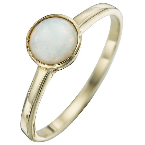 Buy A B Davis 9ct Yellow Gold Gemstone Rubover Ring Online at johnlewis.com