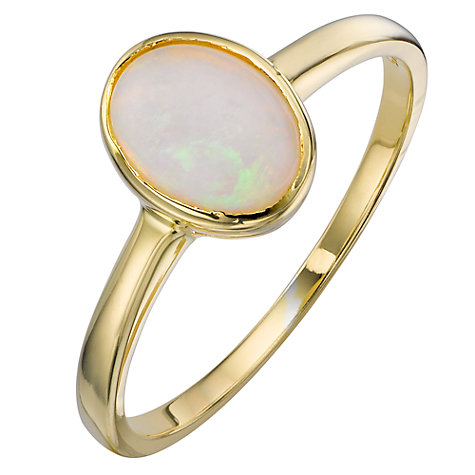 Buy 9ct Yellow Gold Gemstone Oval Ring Online at johnlewis.com