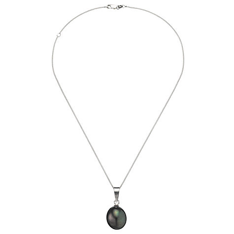 Buy A B Davis Cultured River Black Baroque Pearl Pendant Necklace Online at johnlewis.com