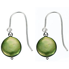 Buy A B Davis Sterling Silver Freshwater Coin Pearl Drop Earrings Online at johnlewis.com