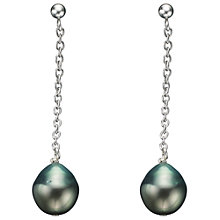 Buy A B Davis Tahitian Black Pearl Chain Drop Earrings Online at johnlewis.com