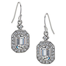 Buy Carolee Emerald Glass Cut Drop Earrings Online at johnlewis.com